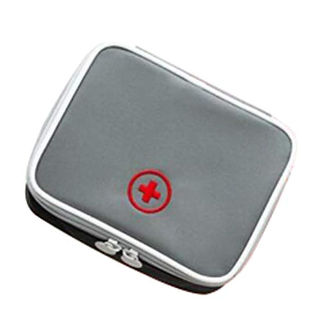 緊急用バッグ 応急処置キット医療ポーチ緊急キットバッグ在宅勤務、旅行の休日の車やキャンプに適し130 x 100 x 40 mm HMMSP (Color : Gray)