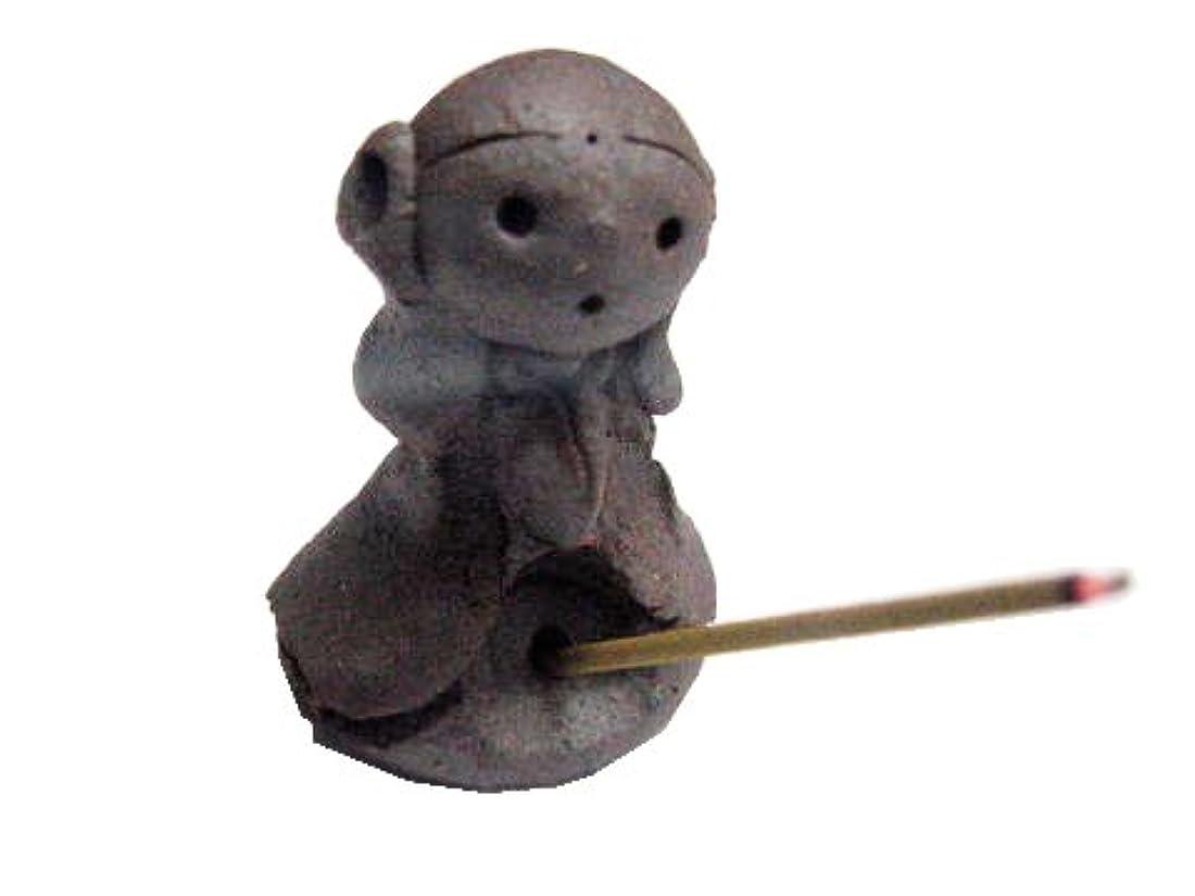 ゆり雇用満たす淡路梅薫堂の可愛い幸せを呼ぶお地蔵様のお香立て スティック コーン かわいい incense stick cones holder #433