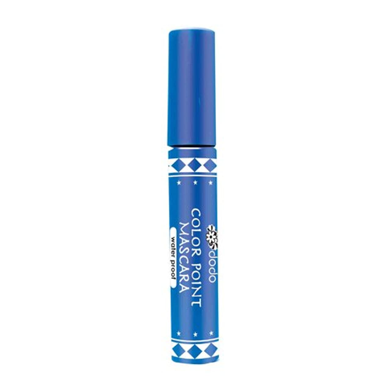 証拠不適当浸透するドドメイク カラーポイントマスカラWP CM10 ブルー