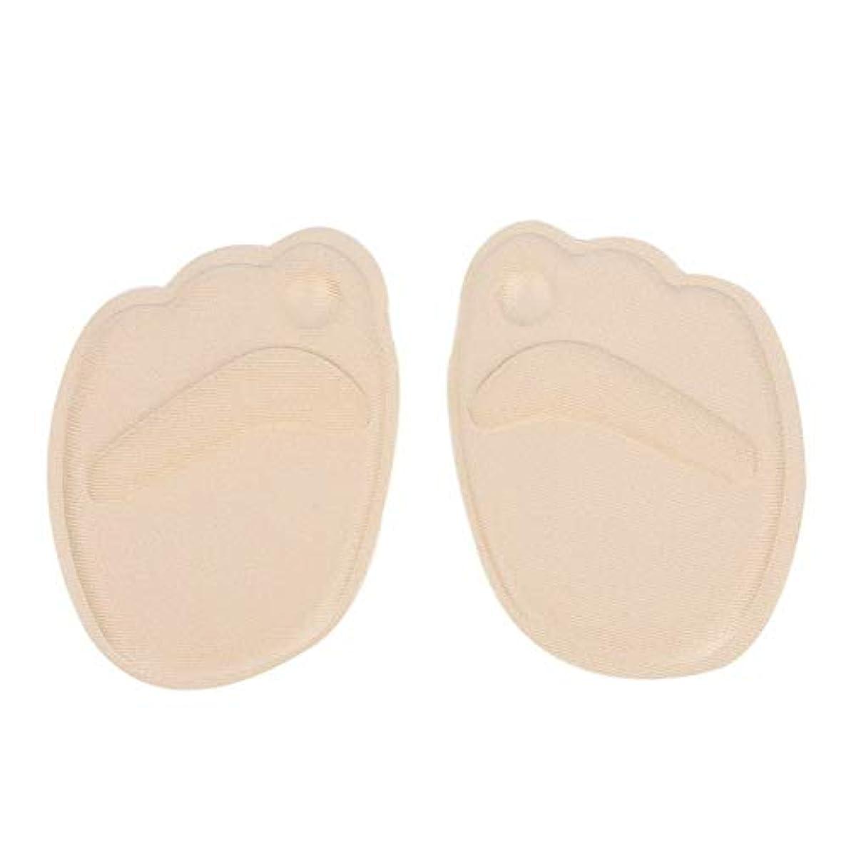 折り目独占どちらも女性のための3足の便利なフットクッション前足滑り止めインソール通気性ゲルパッド Shangxiangtrade (Color : Apricot)
