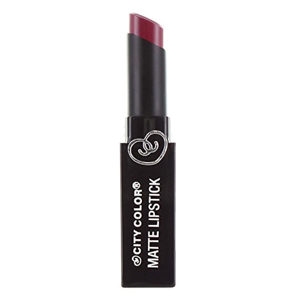 署名ソケット作成する(3 Pack) CITY COLOR Matte Lipstick L0050B - Rosewood (並行輸入品)