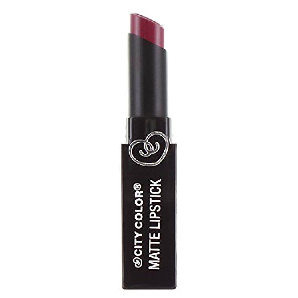 天井あらゆる種類の魔法(3 Pack) CITY COLOR Matte Lipstick L0050B - Rosewood (並行輸入品)
