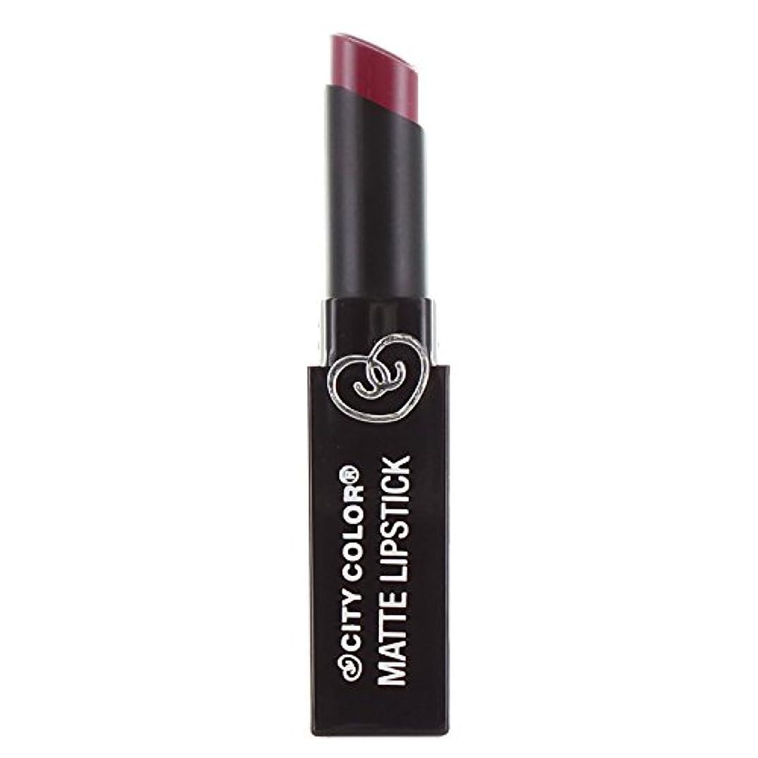 束ピンポイント挽く(3 Pack) CITY COLOR Matte Lipstick L0050B - Rosewood (並行輸入品)
