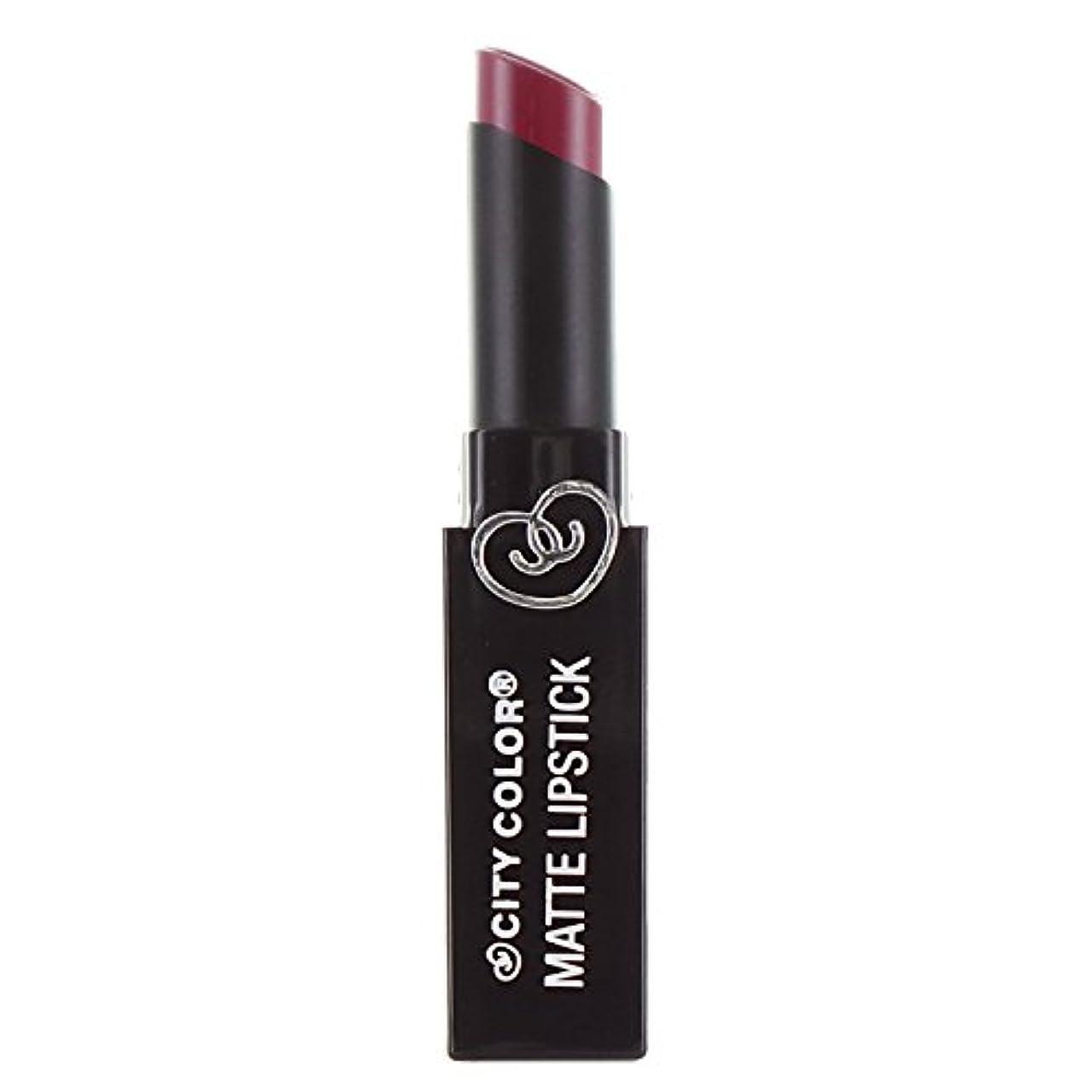 めったに小石ペレグリネーション(3 Pack) CITY COLOR Matte Lipstick L0050B - Rosewood (並行輸入品)