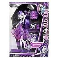 Toy / GameゴージャスなモンスターハイDot Dead Spectra Vondergeist Doll – パープルでHauntingly美しいmini-dress