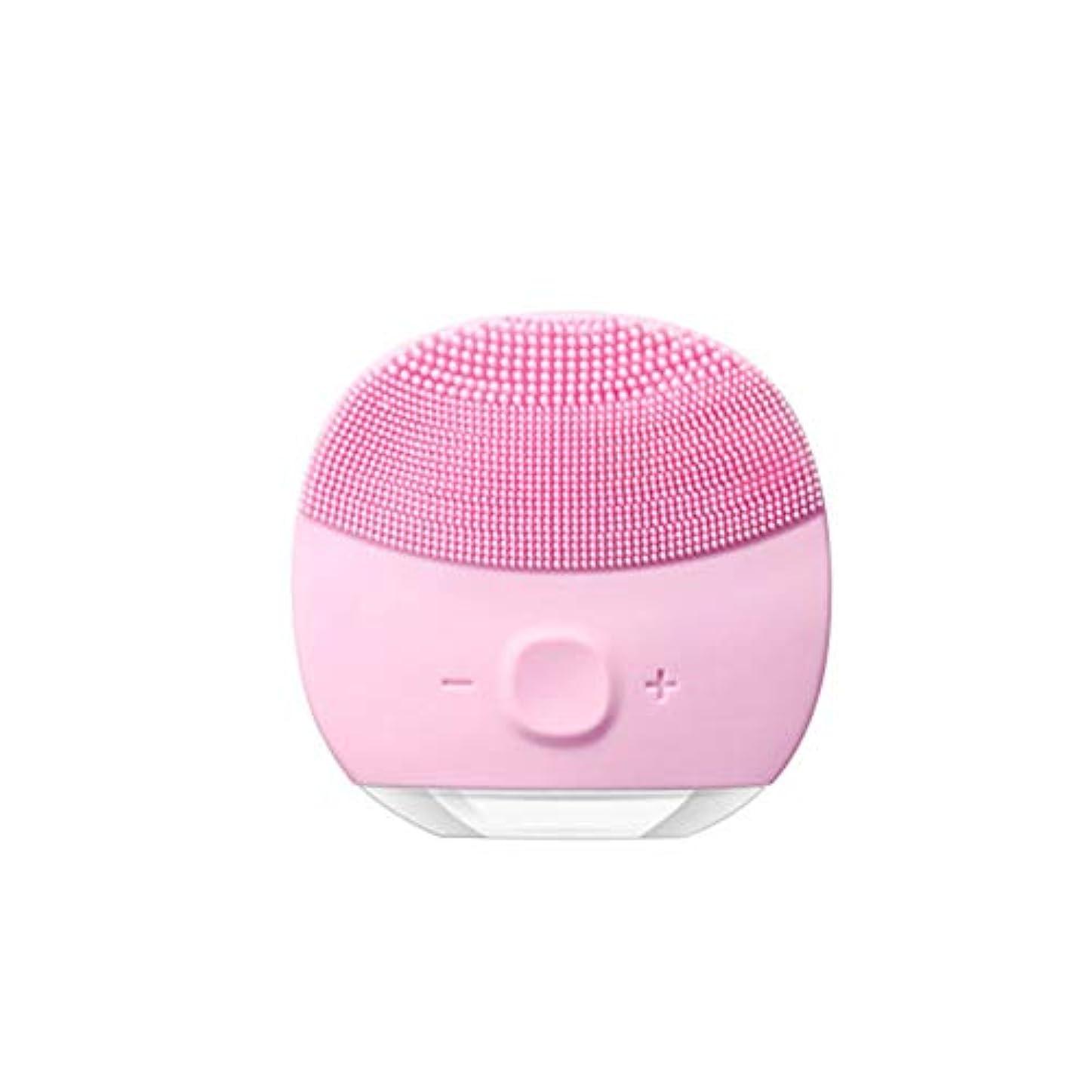 精巧な発送利用可能電気クレンジング器具ウォッシュフェイス美容機器シリコーン超音波家庭用顔面細孔クリーナー