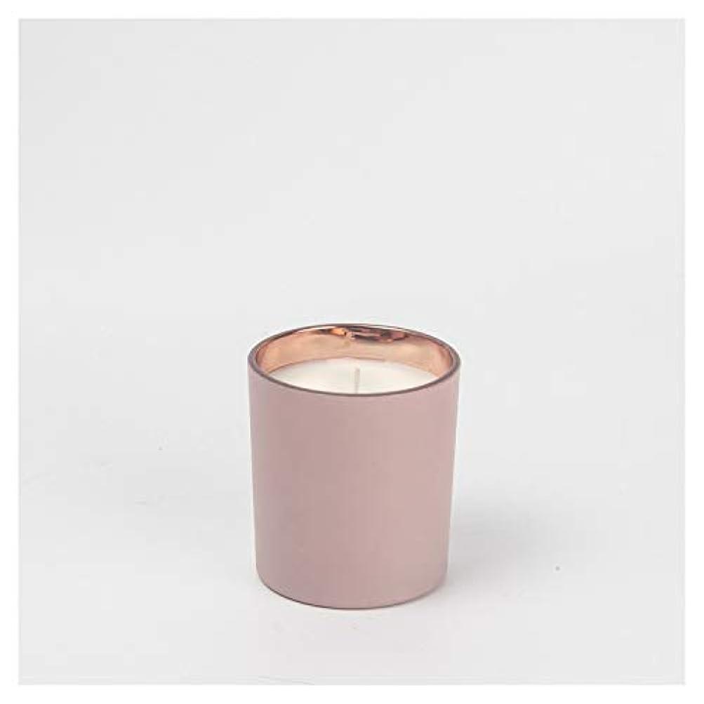 ファンブル歯痛剣Ztian 手作りの香りのキャンドルクリエイティブフロストカップキャンドル屋内の香りのキャンドル (色 : White, Size : 4.5x5.2cm)