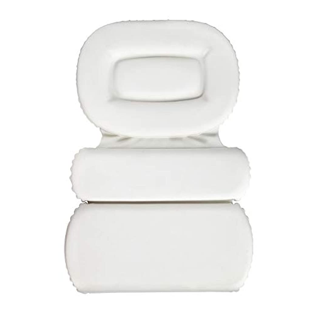 見積りくつろぐのためにサクションカップ付きPU三重スポンジ風呂枕バスタブ枕滑り止め速乾性スパクッション(頭、首、背中のサイズを問わず)