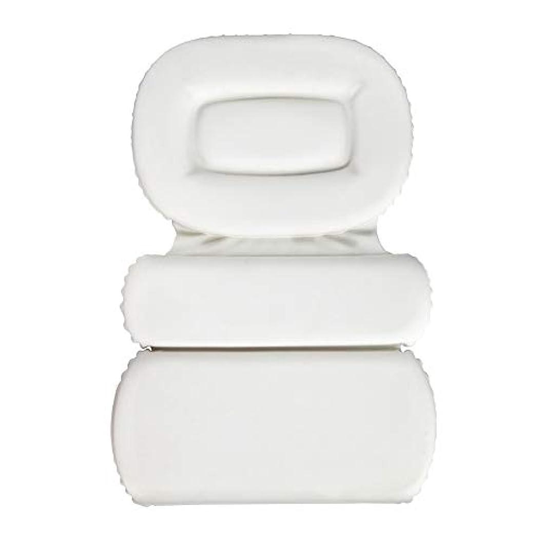 頬安息薬用サクションカップ付きPU三重スポンジ風呂枕バスタブ枕滑り止め速乾性スパクッション(頭、首、背中のサイズを問わず)
