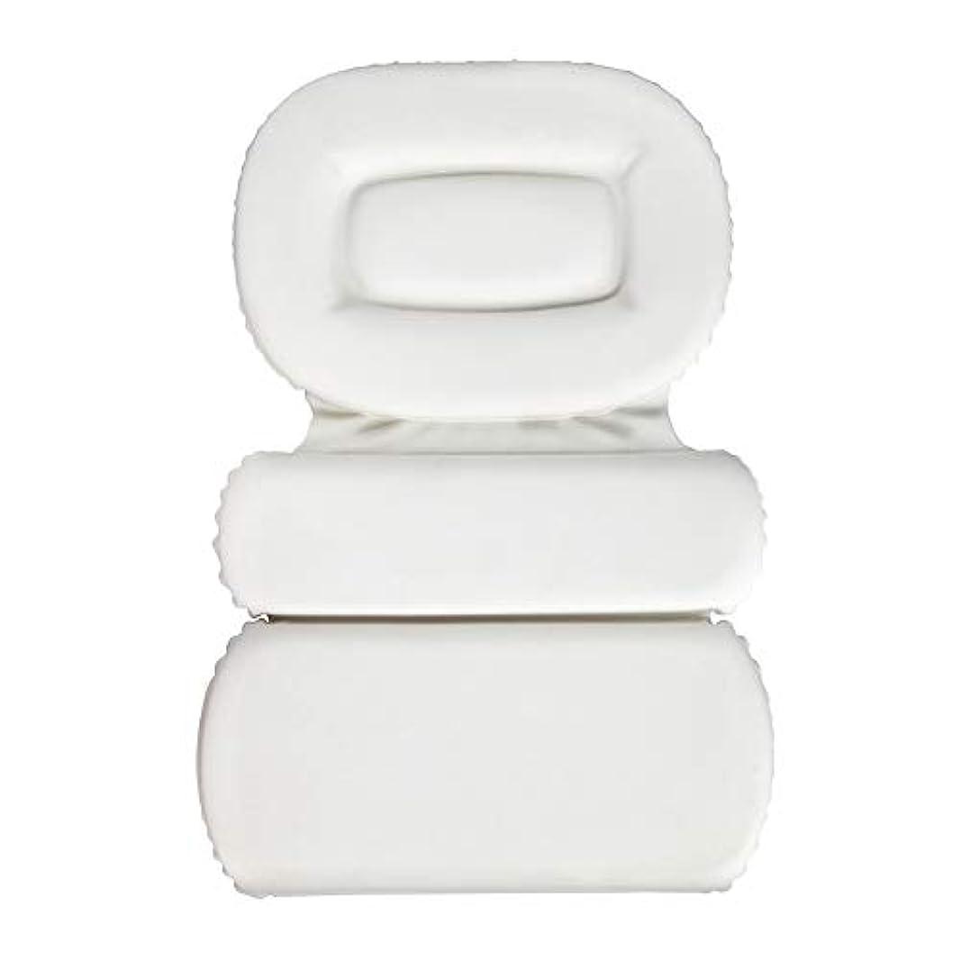 ブラインド不幸ストライドサクションカップ付きPU三重スポンジ風呂枕バスタブ枕滑り止め速乾性スパクッション(頭、首、背中のサイズを問わず)