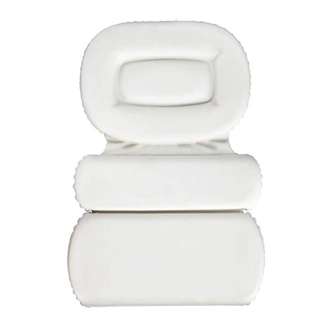 サクションカップ付きPU三重スポンジ風呂枕バスタブ枕滑り止め速乾性スパクッション(頭、首、背中のサイズを問わず)