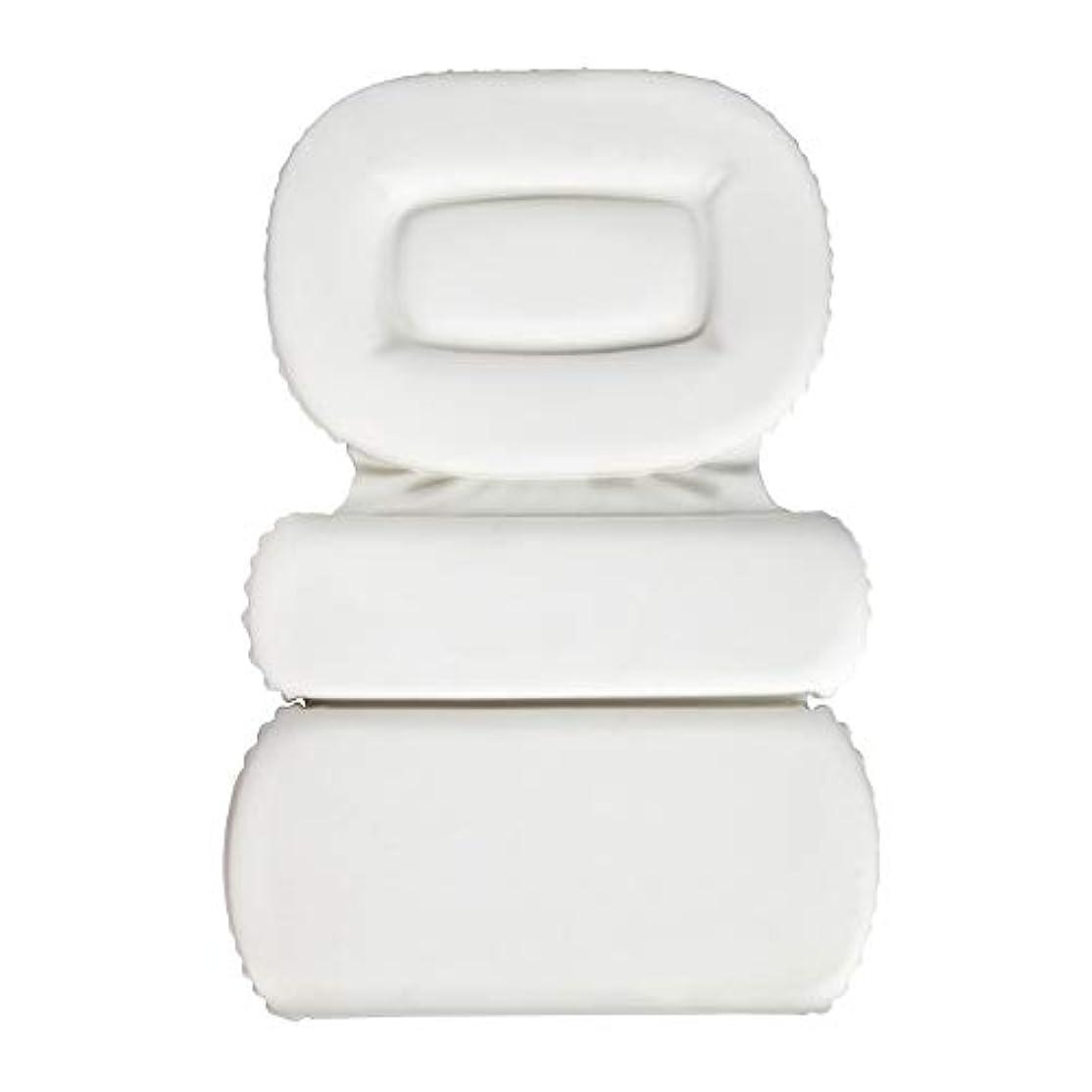 状況篭クラックサクションカップ付きPU三重スポンジ風呂枕バスタブ枕滑り止め速乾性スパクッション(頭、首、背中のサイズを問わず)