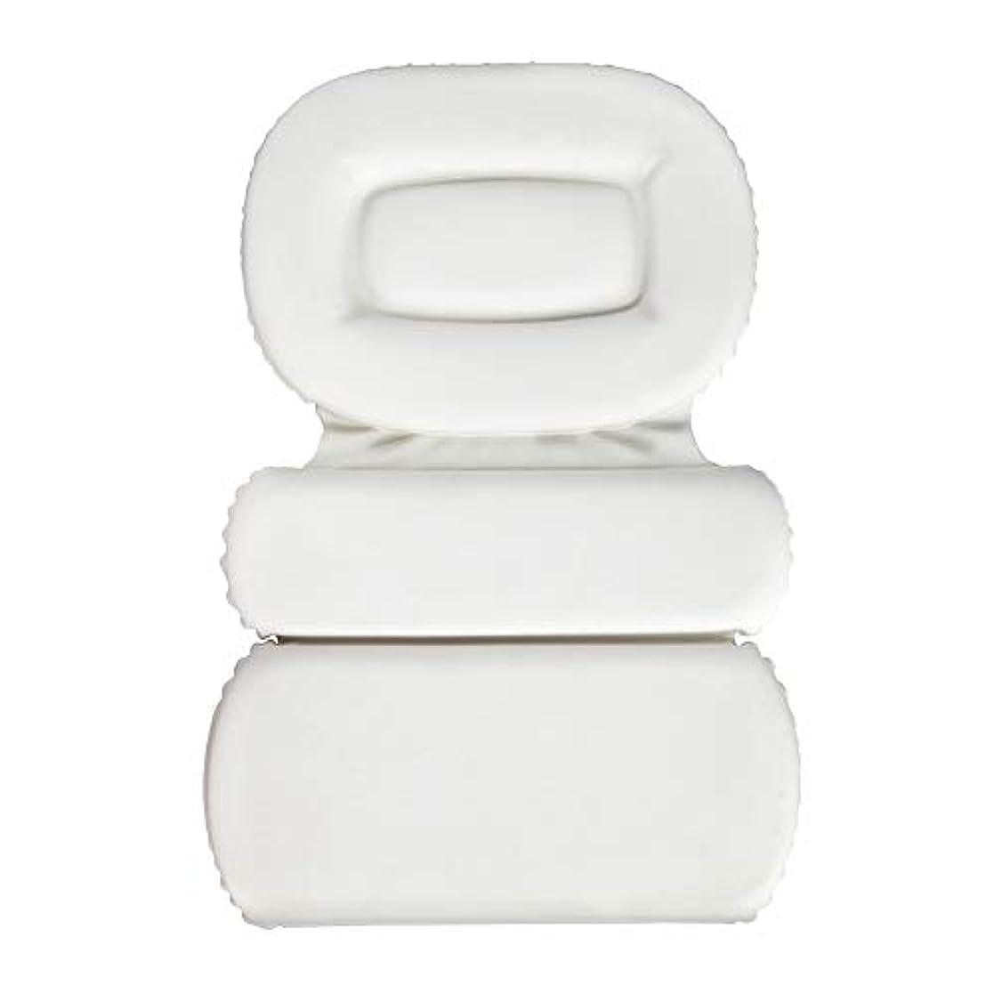 謎争うギャラリーサクションカップ付きPU三重スポンジ風呂枕バスタブ枕滑り止め速乾性スパクッション(頭、首、背中のサイズを問わず)