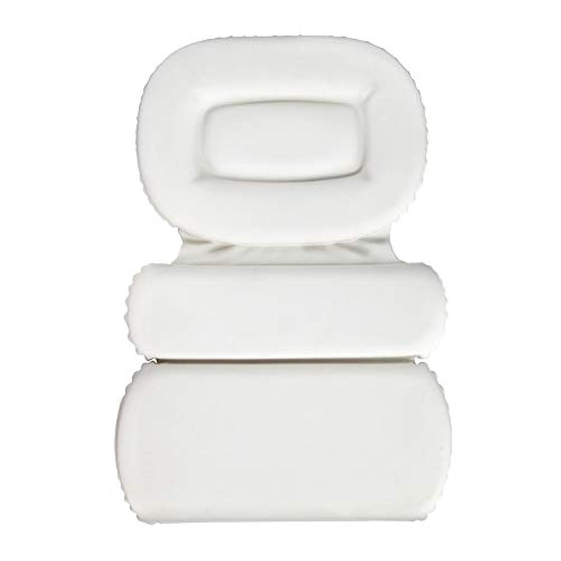 可愛い欠席着替えるサクションカップ付きPU三重スポンジ風呂枕バスタブ枕滑り止め速乾性スパクッション(頭、首、背中のサイズを問わず)