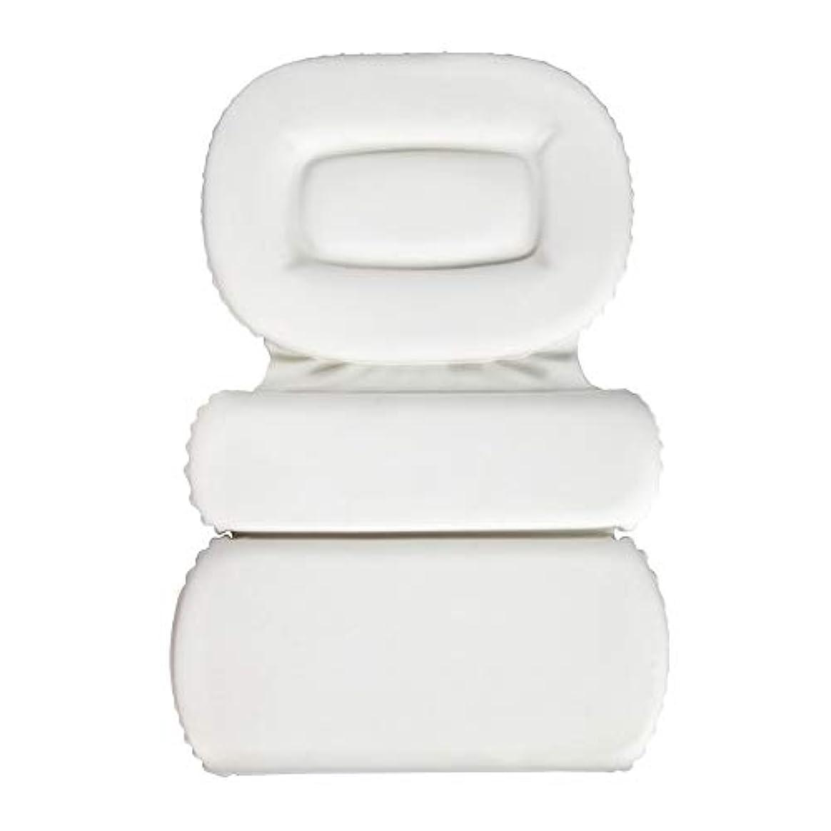 昼食限りなくロゴサクションカップ付きPU三重スポンジ風呂枕バスタブ枕滑り止め速乾性スパクッション(頭、首、背中のサイズを問わず)