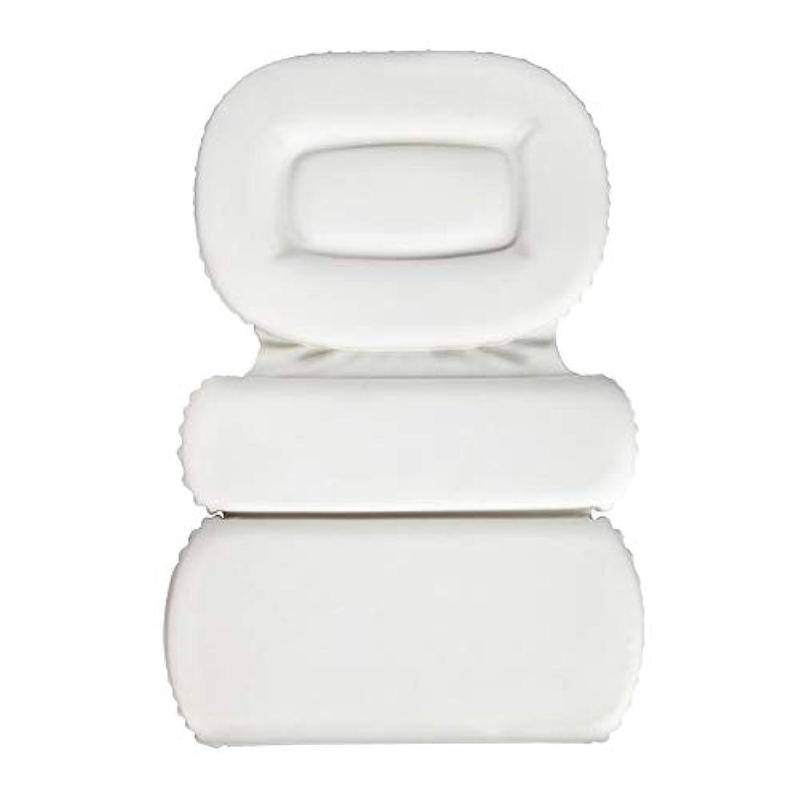 静めるアトラスファーザーファージュサクションカップ付きPU三重スポンジ風呂枕バスタブ枕滑り止め速乾性スパクッション(頭、首、背中のサイズを問わず)