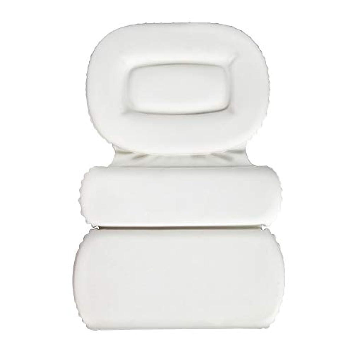 敬取得する甘いサクションカップ付きPU三重スポンジ風呂枕バスタブ枕滑り止め速乾性スパクッション(頭、首、背中のサイズを問わず)