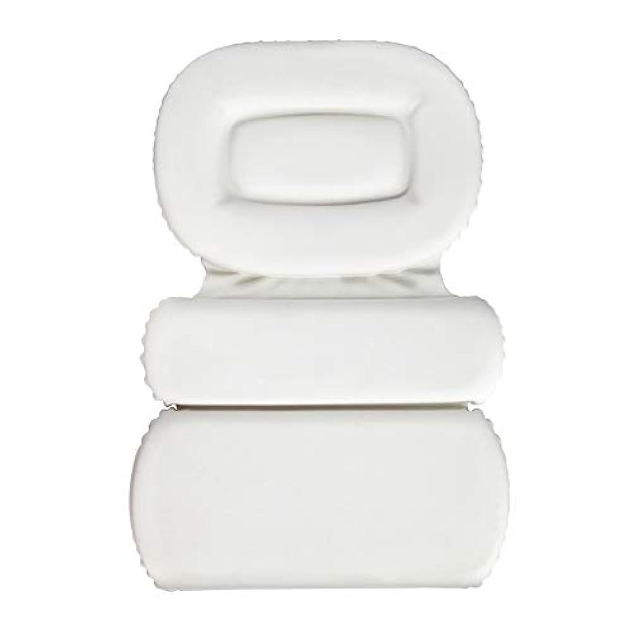 横向きアブセイサクションカップ付きPU三重スポンジ風呂枕バスタブ枕滑り止め速乾性スパクッション(頭、首、背中のサイズを問わず)