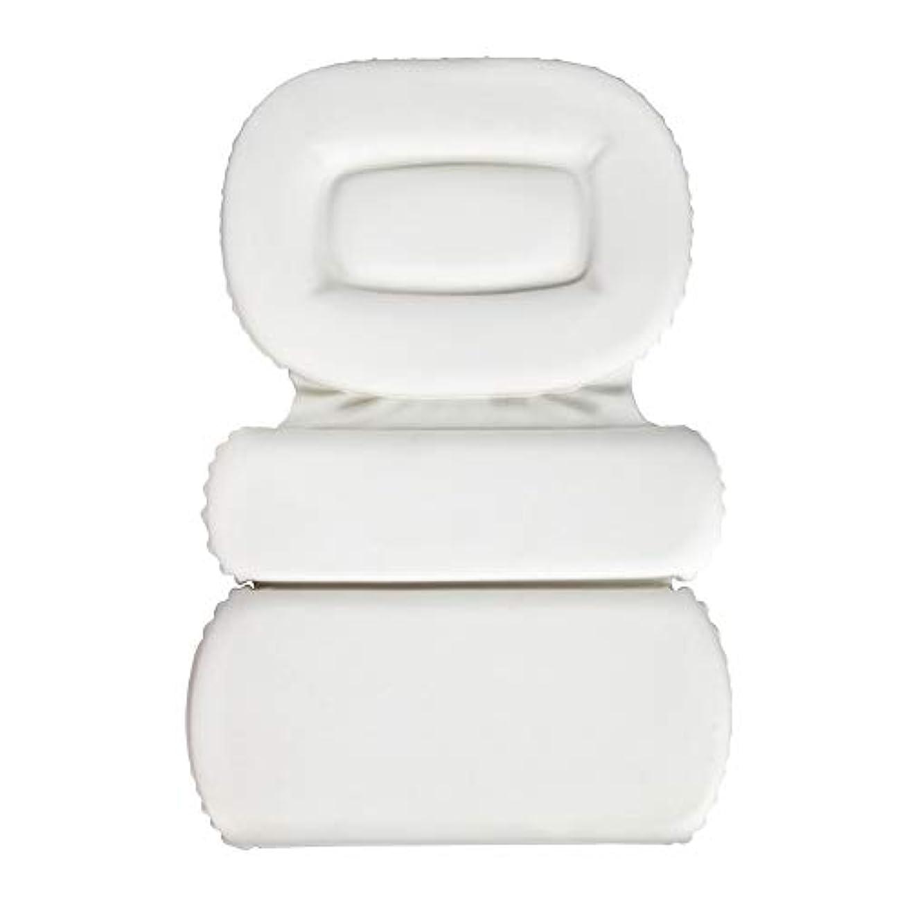 補う独創的知り合いサクションカップ付きPU三重スポンジ風呂枕バスタブ枕滑り止め速乾性スパクッション(頭、首、背中のサイズを問わず)