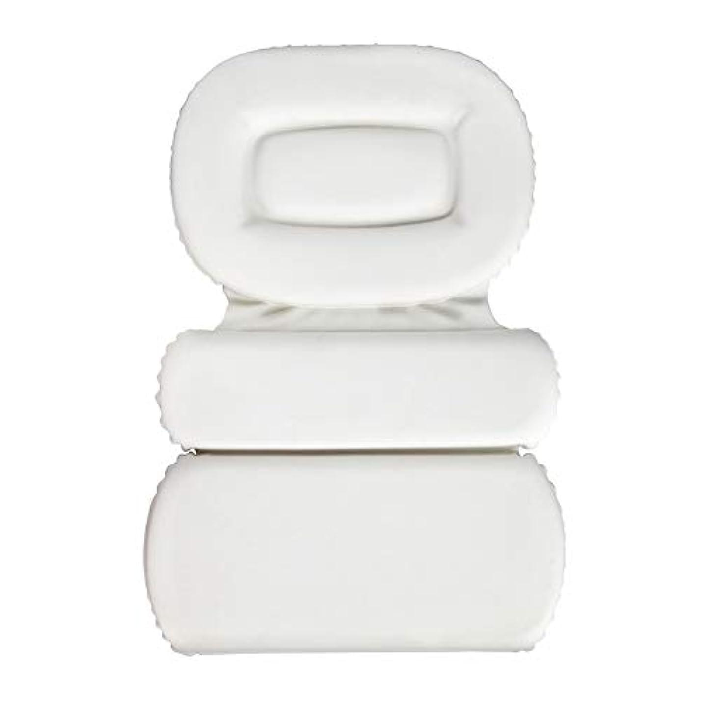 スリーブ寄付する伝統的サクションカップ付きPU三重スポンジ風呂枕バスタブ枕滑り止め速乾性スパクッション(頭、首、背中のサイズを問わず)