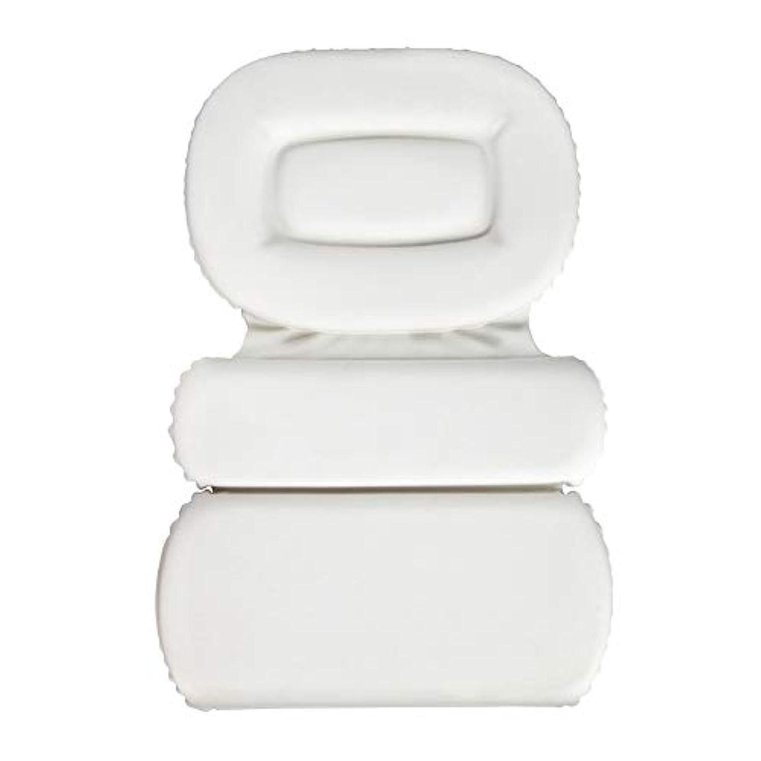 半球アクセスできない組み合わせるサクションカップ付きPU三重スポンジ風呂枕バスタブ枕滑り止め速乾性スパクッション(頭、首、背中のサイズを問わず)