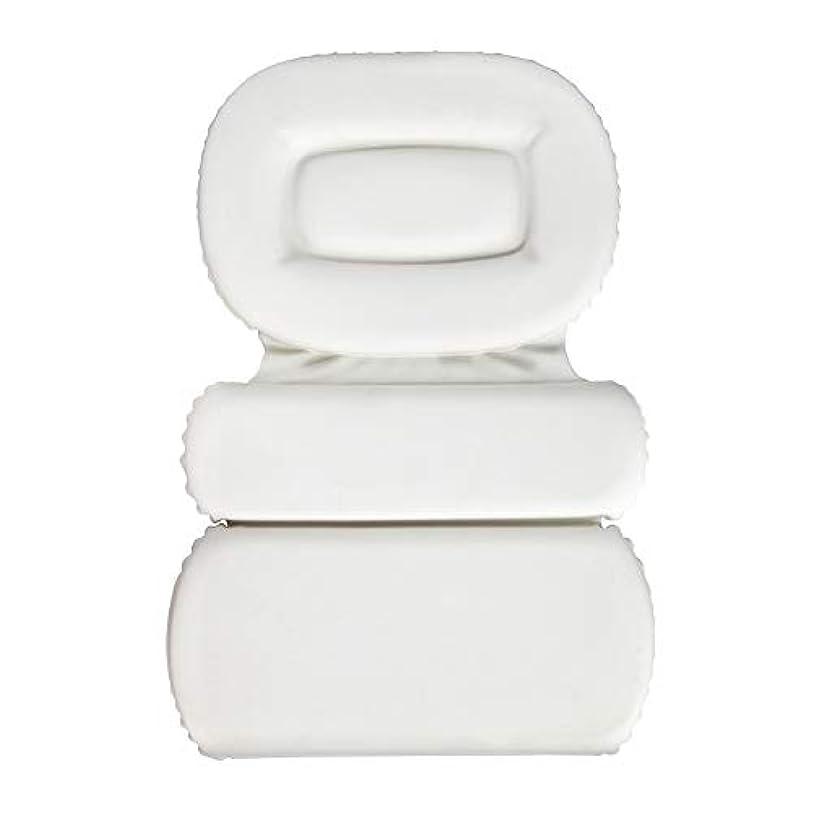 サスペンション存在する全部サクションカップ付きPU三重スポンジ風呂枕バスタブ枕滑り止め速乾性スパクッション(頭、首、背中のサイズを問わず)