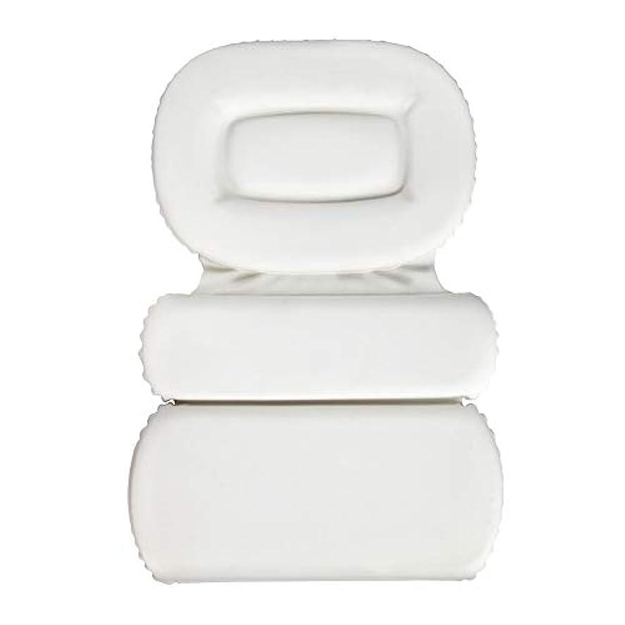 計算寝る手当サクションカップ付きPU三重スポンジ風呂枕バスタブ枕滑り止め速乾性スパクッション(頭、首、背中のサイズを問わず)