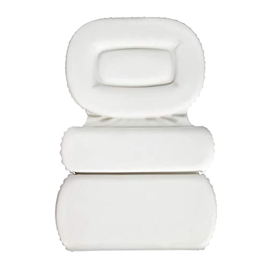 バブルペフオーロックサクションカップ付きPU三重スポンジ風呂枕バスタブ枕滑り止め速乾性スパクッション(頭、首、背中のサイズを問わず)