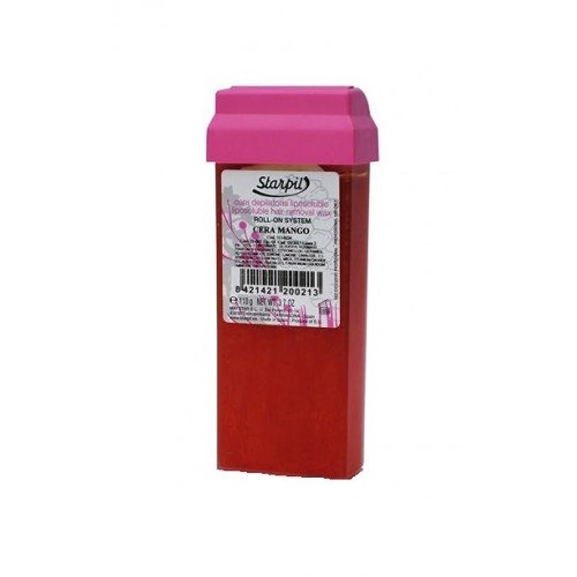 リサイクルする機転焦がすプロ用?業務用ブラジリアンワックス|ロールオンワックスStarpil Wax:マンゴー 110g 5本セット