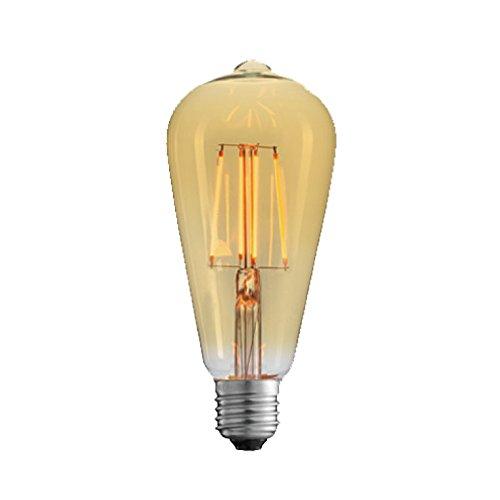 【調光器対応】エジソン バルブ ゴールドガラス EDISON BULB (L...