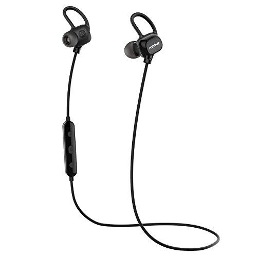 Mpow Enchanter bluetooth イヤホン IPX6防水仕様 ワイヤレス ヘッドセット 超軽量13g CVC6.0ノイズ低減の仕組み iPhone&Android スマートフォンに対応 MP-BH053AB