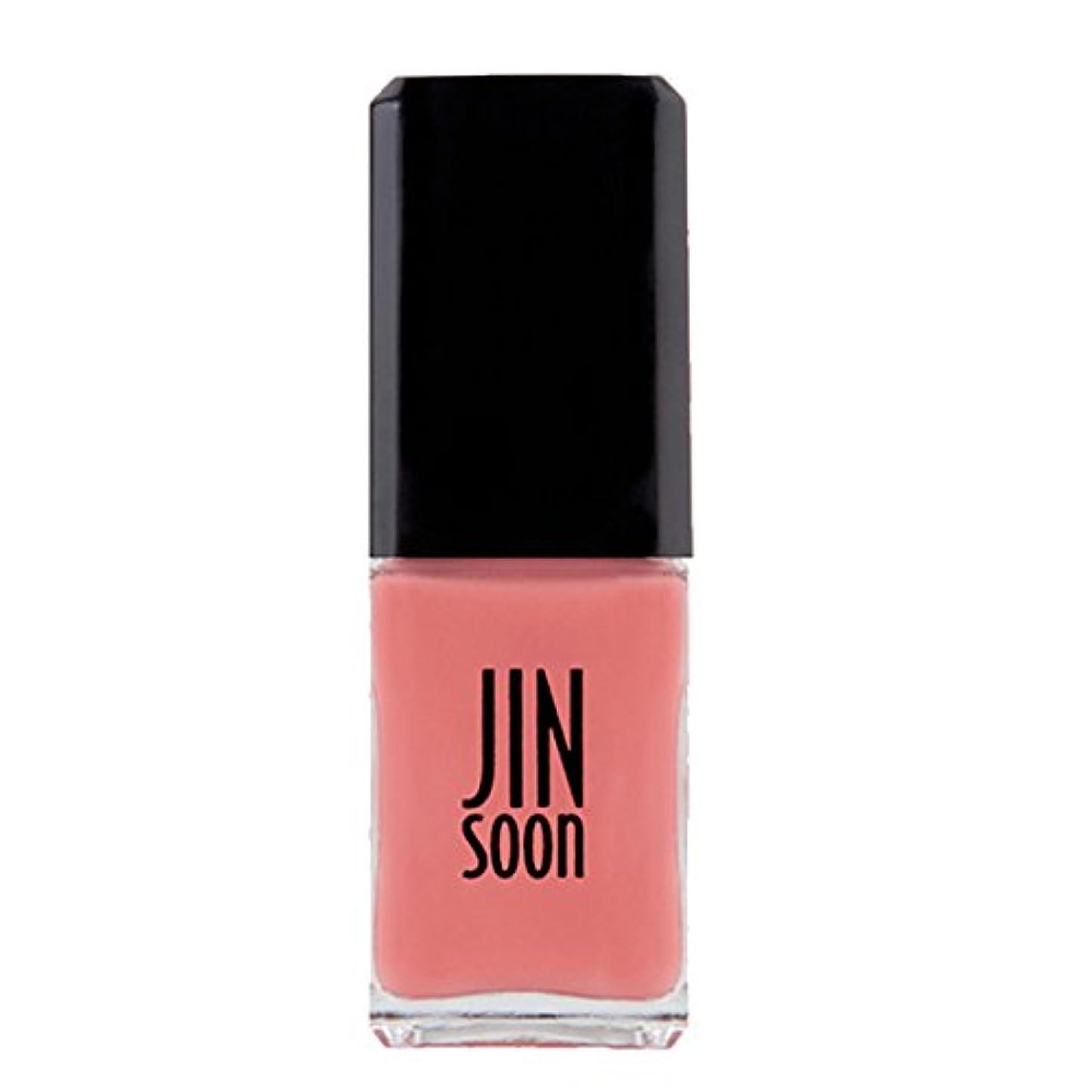 振動させる変換権限[ジンスーン] [ jinsoon] ティーローズ(ライト コーラル)TEA ROSE ジンスーン 5フリー ネイルポリッシュ ピンク 11mL
