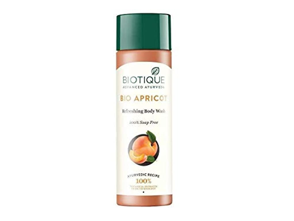 ドールセットするおびえたBiotique Bio Apricot Refreshing Body Wash, 190ml 100% soap-free gel For All Skin Biotiqueバイオアプリコットさわやかなボディウォッシュ...
