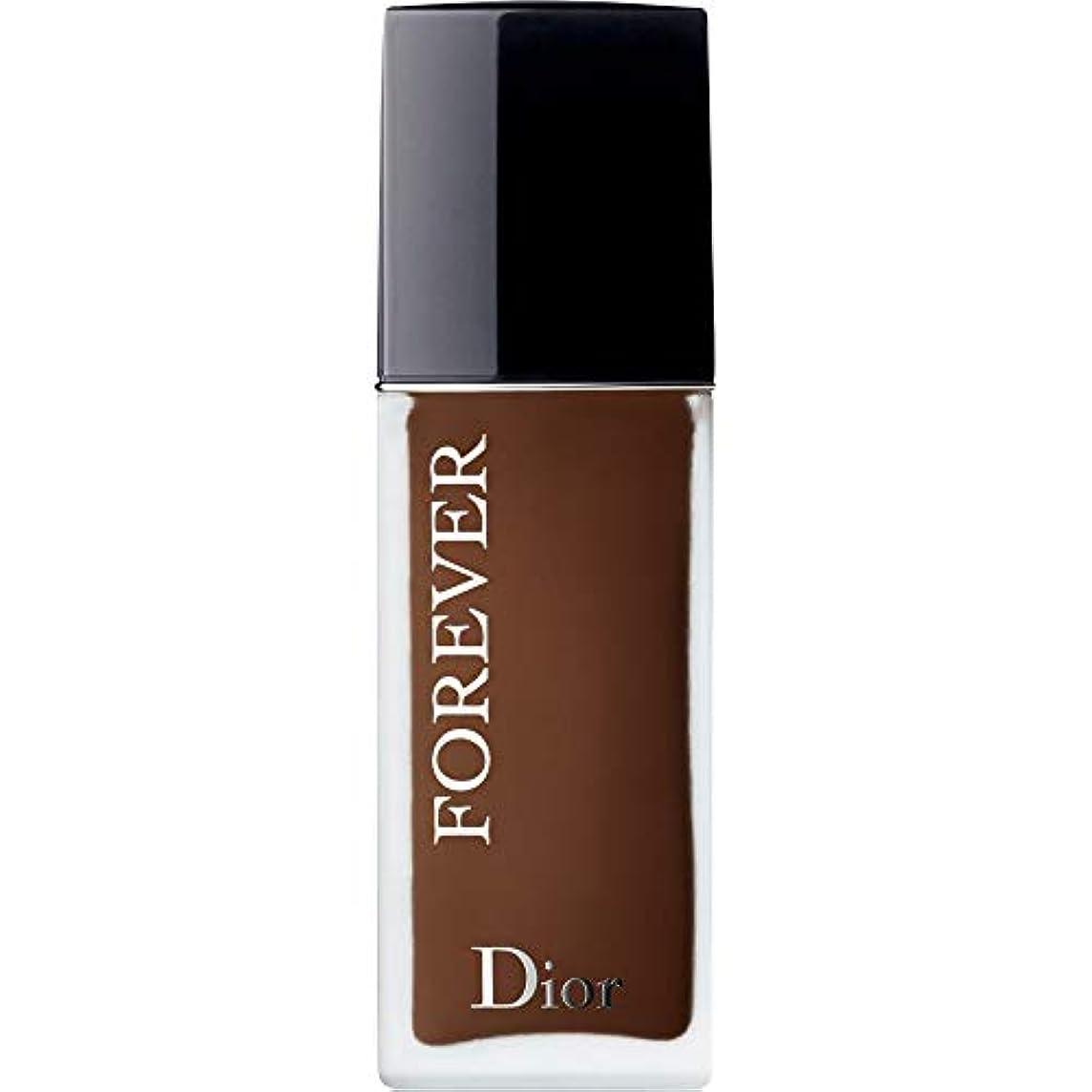 薄いです剛性脚本[Dior ] ディオール永遠皮膚思いやりの基盤Spf35 30ミリリットルの9N - ニュートラル(つや消し) - DIOR Forever Skin-Caring Foundation SPF35 30ml 9N -...