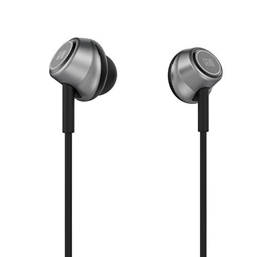 GVOEARS イヤホン 高音質 耳栓型 インイヤーヘッドホン 高遮音性 フィット感抜群 有線タイヤホン ヘッドホン スタイリッシュ 仕様 (グレー)