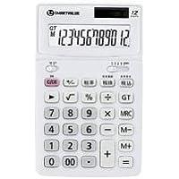 スマートバリュー 中型電卓 ホワイト K071J