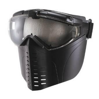フルフェイス ファンマスク Proゴーグル [くもり防止ファン搭載] マットブラック