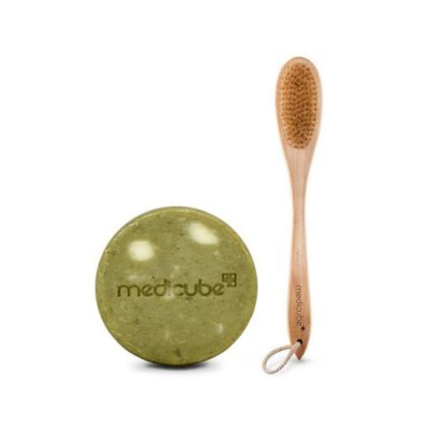 世界ショルダー種をまく[Medicube メディキューブ] レッドボディークレンジングブラシ+ボディーバーセット / Red Body Cleansing Brush+Body bar set [並行輸入品]