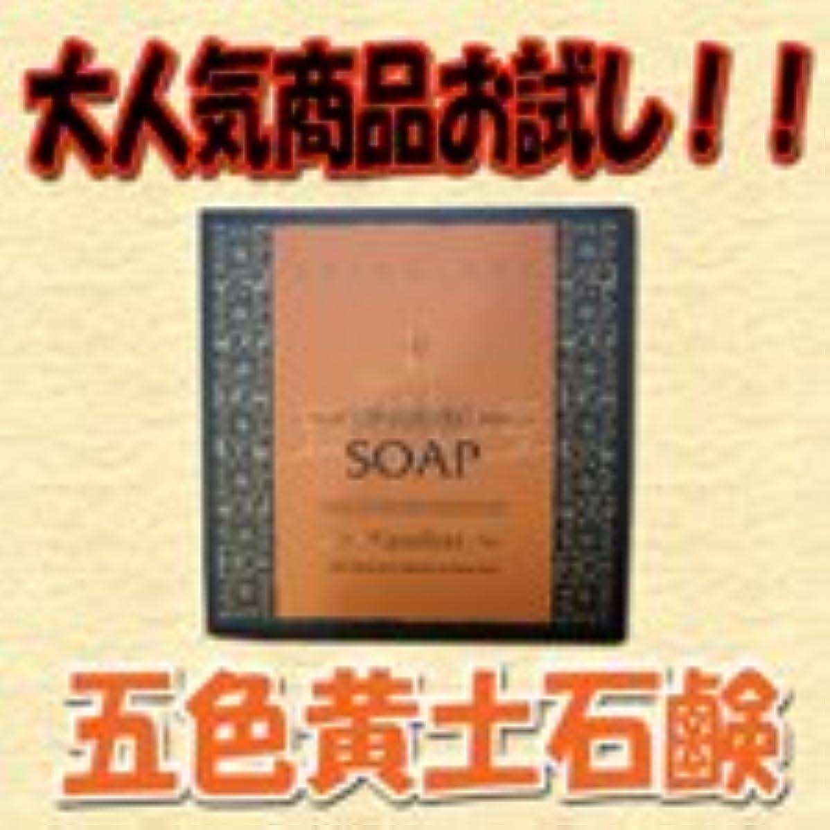 気楽な処理シマウマ五色黄土石鹸 トライアルセット 20g 1個入り 【天然ミネラル】