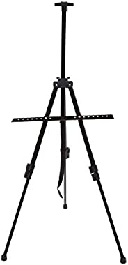 Spenno Easel Metal Easel Stand, 3 Tiers, Elastic Type, Black, Storage Bag Included
