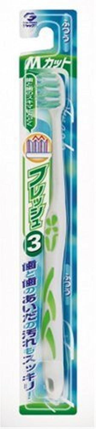 被る混合伝統フレッシュ ハブラシ3 Mカット ふつう アソート(ホワイト&ブルー?ホワイト&グリーン?ホワイト&ピンク?ホワイト&イエローのうち1色。色はおまかせ)
