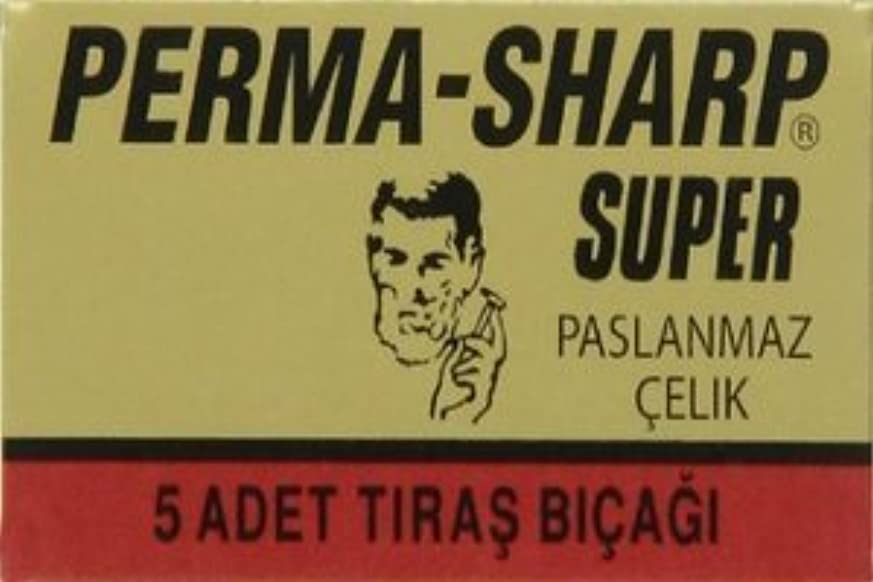 霧圧倒的罪人Perma-Sharp Super 両刃替刃 5枚入り(5枚入り1 個セット)【並行輸入品】