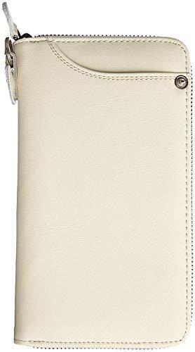 20a3b5e088d0 ホワイト 財布 メンズ 牛革 長財布 ロングウォレット ラウンドファスナー レザー カジュアル 小銭入れあり 大