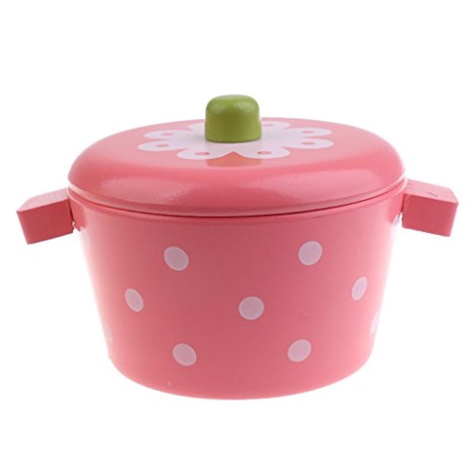 軍艦ひばり見落とすごっこ遊び 調理器具 食器モデル キッチンパン ふりプレイ キッチン料理 おもちゃ 2サイズ選択 - ミニスチーポット