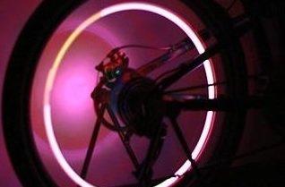 簡単設置 !! 自転車 スタンド 【 LED ホイール ライト 付 】 ディスプレイ 展示 にも  【kj053】