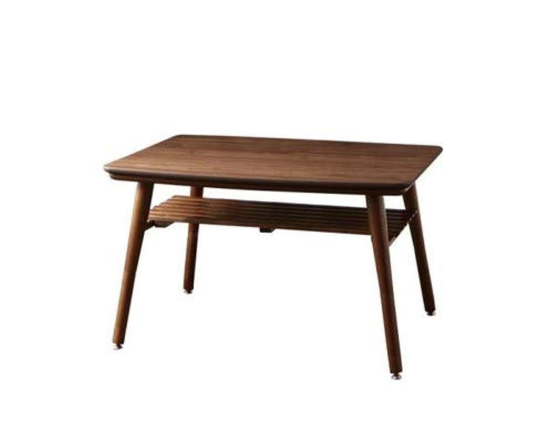 ウォールナットブラウン ダイニングこたつテーブル W105のみ こたつもソファも高さ調節できる 棚付きリビングダイニングセット Norld ノールドより【????????品】
