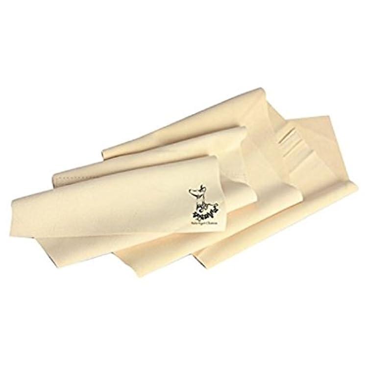 吐くキャンベラためらう天然 鹿革 キョンセーム ナノキョンセームシリーズ 鹿皮両面 タイプ 正規品 (ボディタオル L)