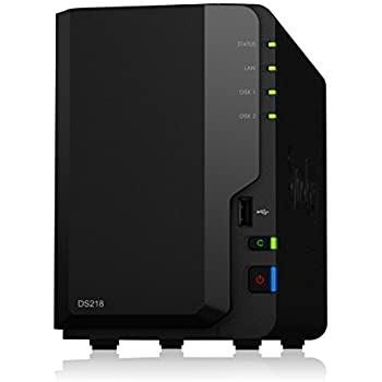 Synology DiskStation DS218 2ベイ NAS キット 日本正規代理店アスク サポート対応 クアッドコアCPU搭載 保証2年 CS7123