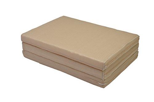 京都西川 高通気 敷き布団 日本製 洗える 二層式 三つ折り式 立体構造繊維 抗菌 防臭 制菌 体圧分散性 通気性 耐久性 シングル ベージュ 4E5205 MA-8 4E5205 MA-8