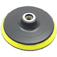 (Aideaz) 効率作業 80 100 mm 径 マジック ファスナー 式 プラスチック パット ポリッシャー 等に (薄型 100mm)